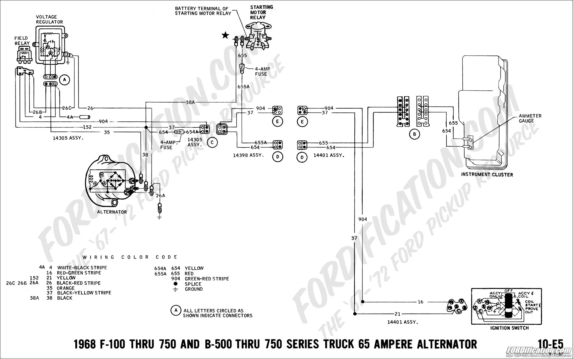 Ford f alternator schematic get free image