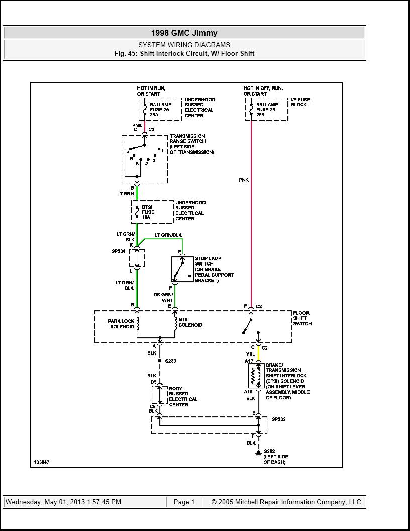 1998 gmc jimmy wiring