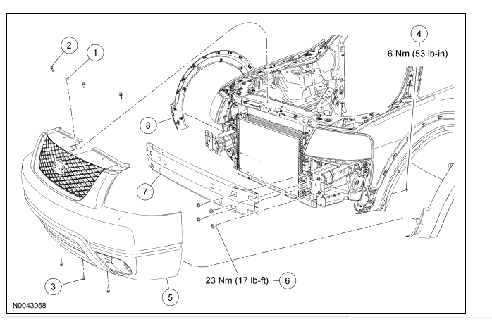 ford headlight assembly diagram