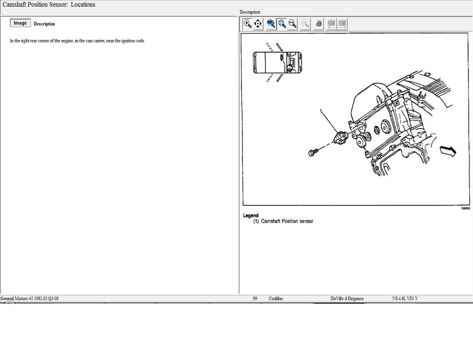 cadillac deville throttle position sensor location
