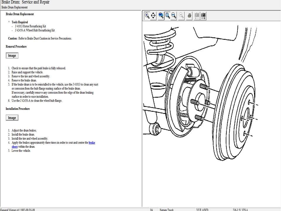 2008 saturn vue rear brake diagram html