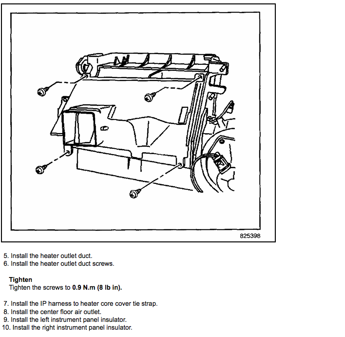 service manual  2007 buick rendezvous heater core removal