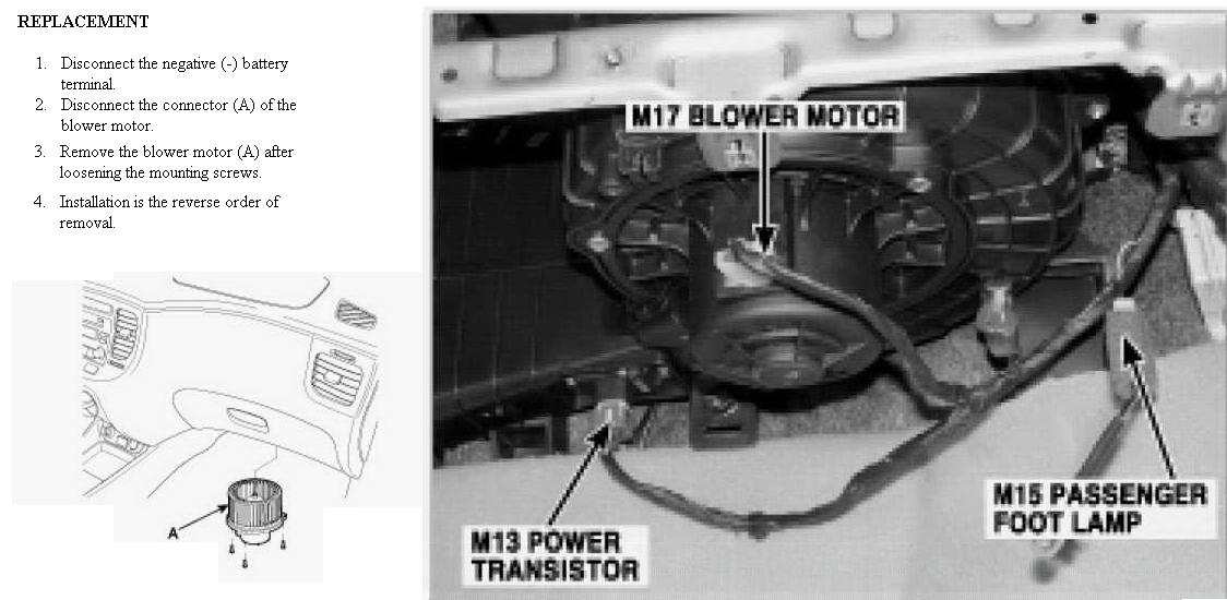 Service manual how to replace a 2007 kia optima blower for Bobcat blower motor replacement
