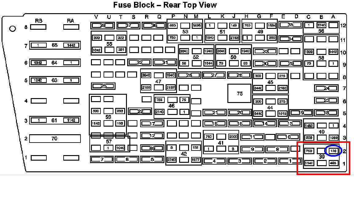 fuse diagram in 2001 olds alero