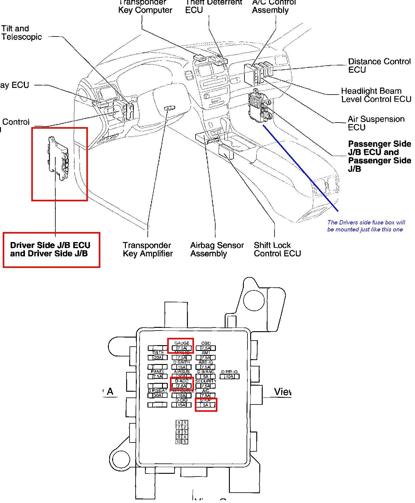 1999 lexus gs 300 fuse box 1999 wiring diagrams
