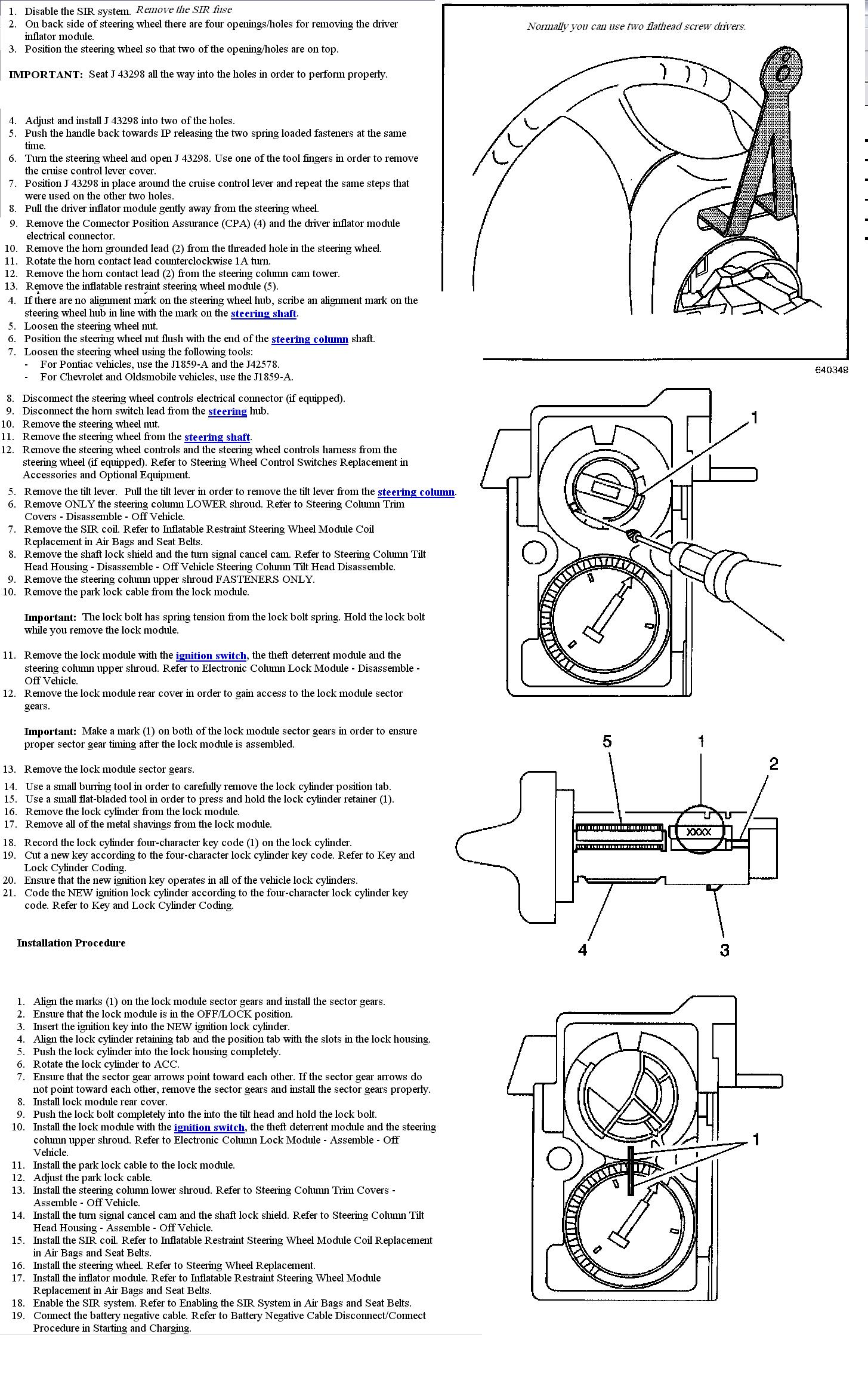 the ignition switch on our 2001 pontiac montana will not. Black Bedroom Furniture Sets. Home Design Ideas