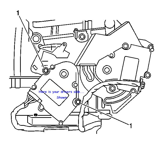 diagram of temp actuator on 2001 buick lesabre