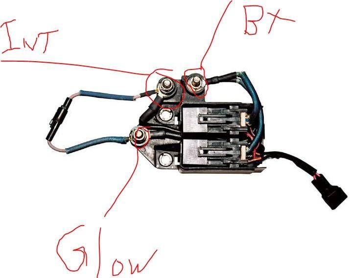 lb7 glow plug controller 3 posts 5 wires one red 2. Black Bedroom Furniture Sets. Home Design Ideas