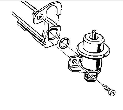 the fuel pressure regulator was leaking gas on my 2005