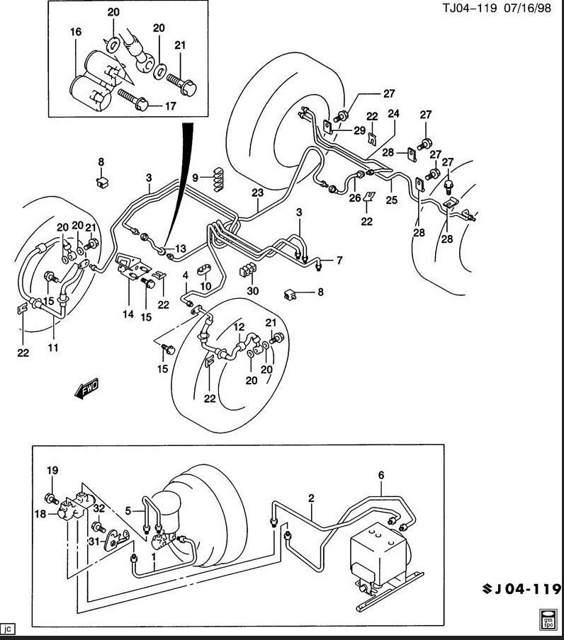 chevy truck brake line diagram