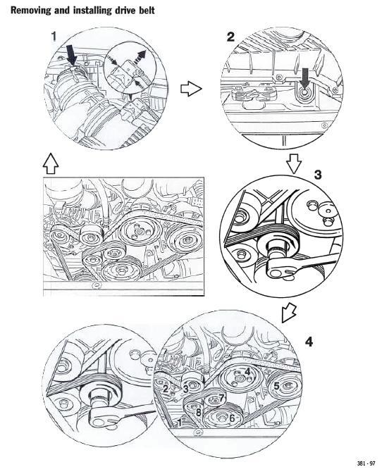 porsche 996 serpentine belt diagram