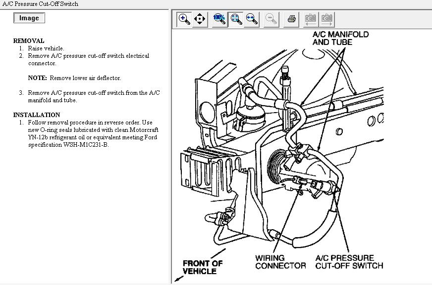 2007 ford mustang air conditioner diagram