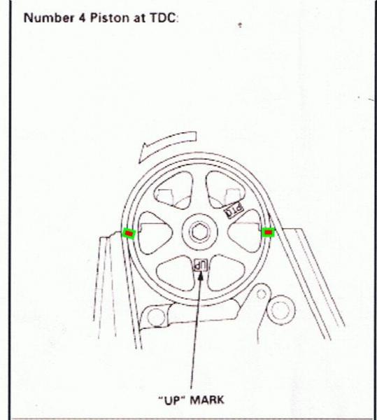 1995 honda accord non vtech engine  timing belt broke