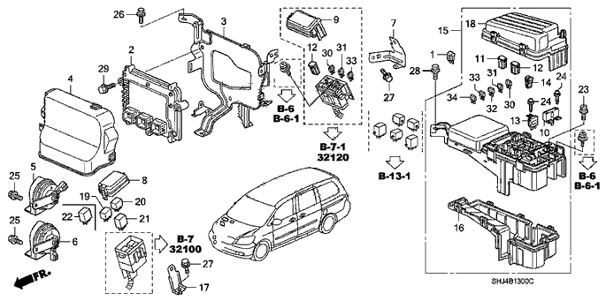 honda civic fuse box diagrams 374430