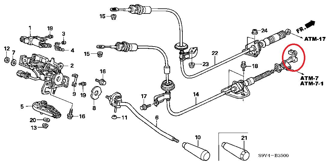 service manual  2011 honda pilot shift link cable remove and install
