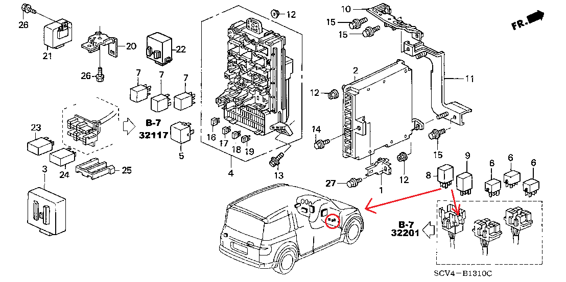 2003 honda element do not have power to my fuel pump plug