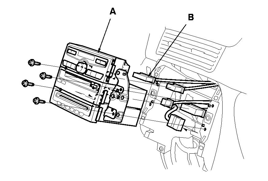 how do i remove the a  c control panel 2005 honda pilot ex