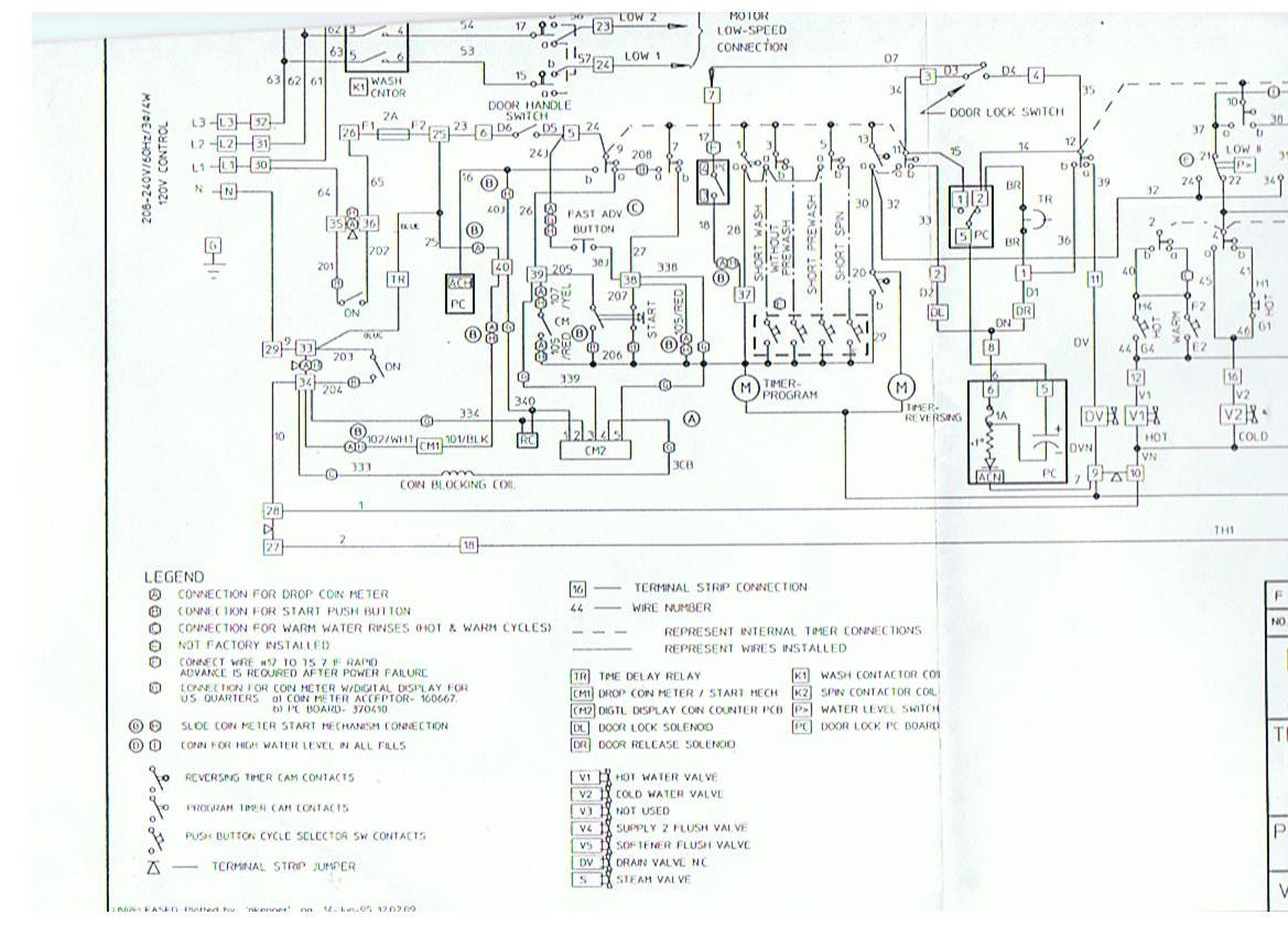 Speed Queen Wiring Diagram Diagrams For Kes I Have A Commercial Coin Op Sc 18 Washer Dryer