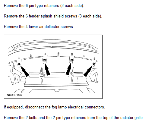 Diagram Of Removing A Grill From A 2010 Mini Cooper