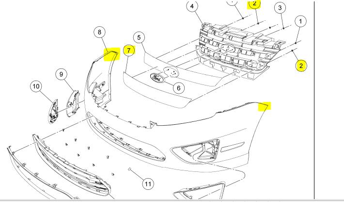 Ford Escape Front Bumper Removal