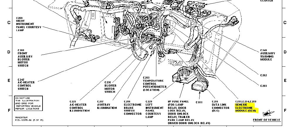 98 Ford Windstar 3 8 Engine Diagram on ford e series 350 1995 fuse box diagram