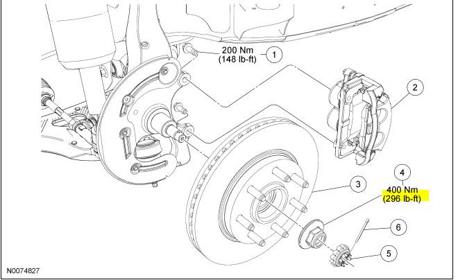 ford expedition brake caliper diagram