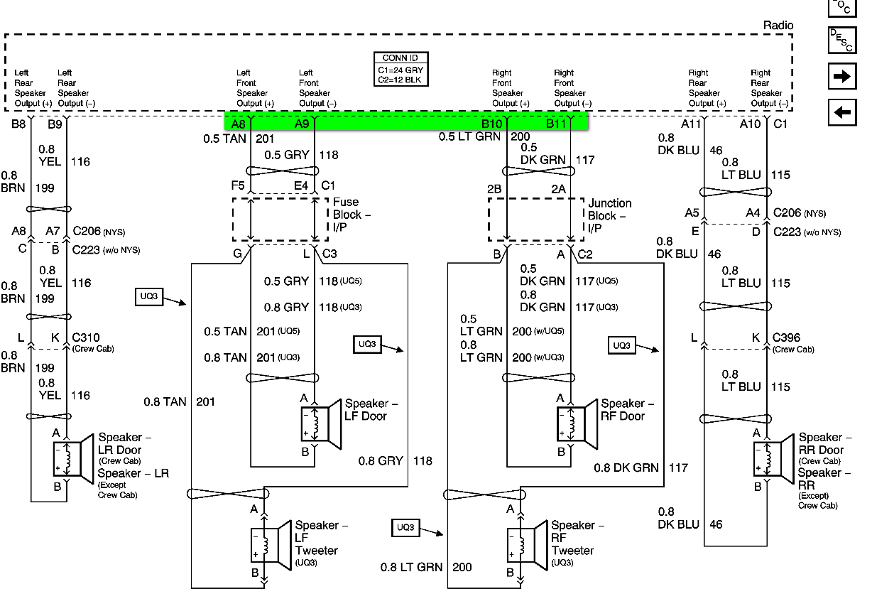 i need a 2008 gmc sierra 1500 factory radio schematic full size image