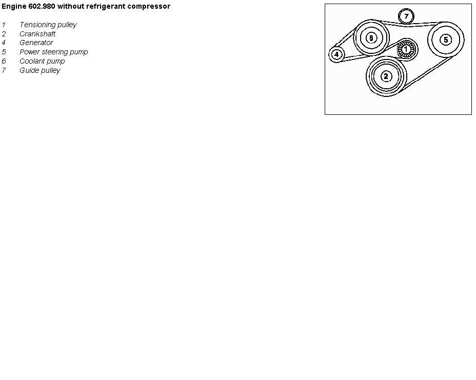 Mercedes Sprinter 310d Fan Belt Diagram