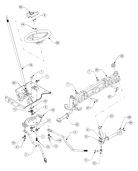 cub cadet lt1045 steering diagram