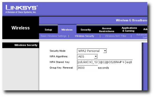how to change password on linksys router