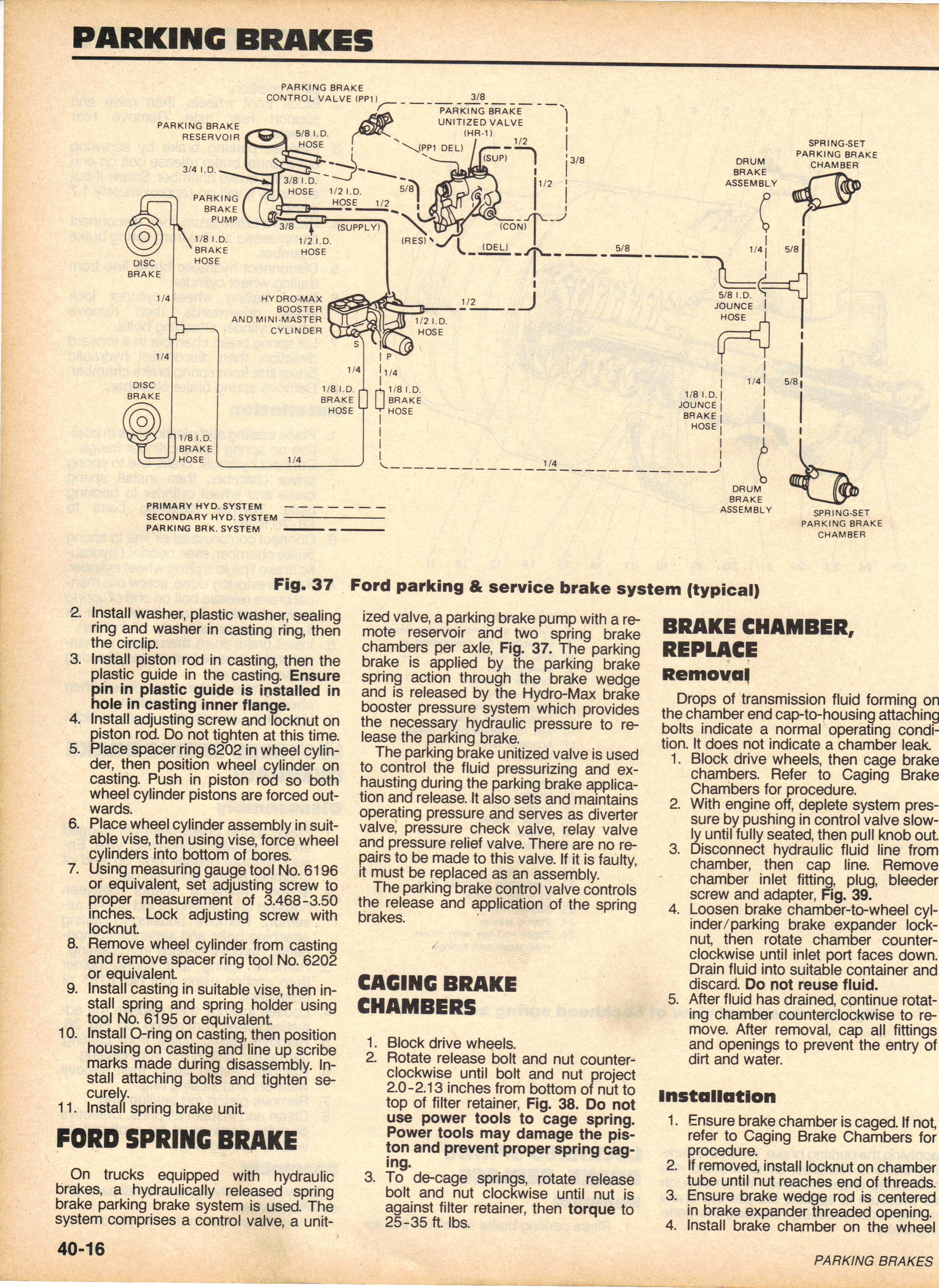 Ford F700 Brake System Auto Engine And Parts Diagram