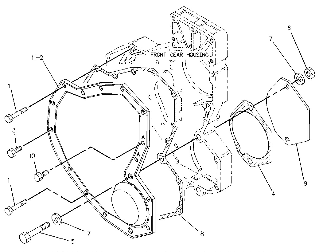 Installation Caterpillar Gasket 9y4634 On Marine Engine