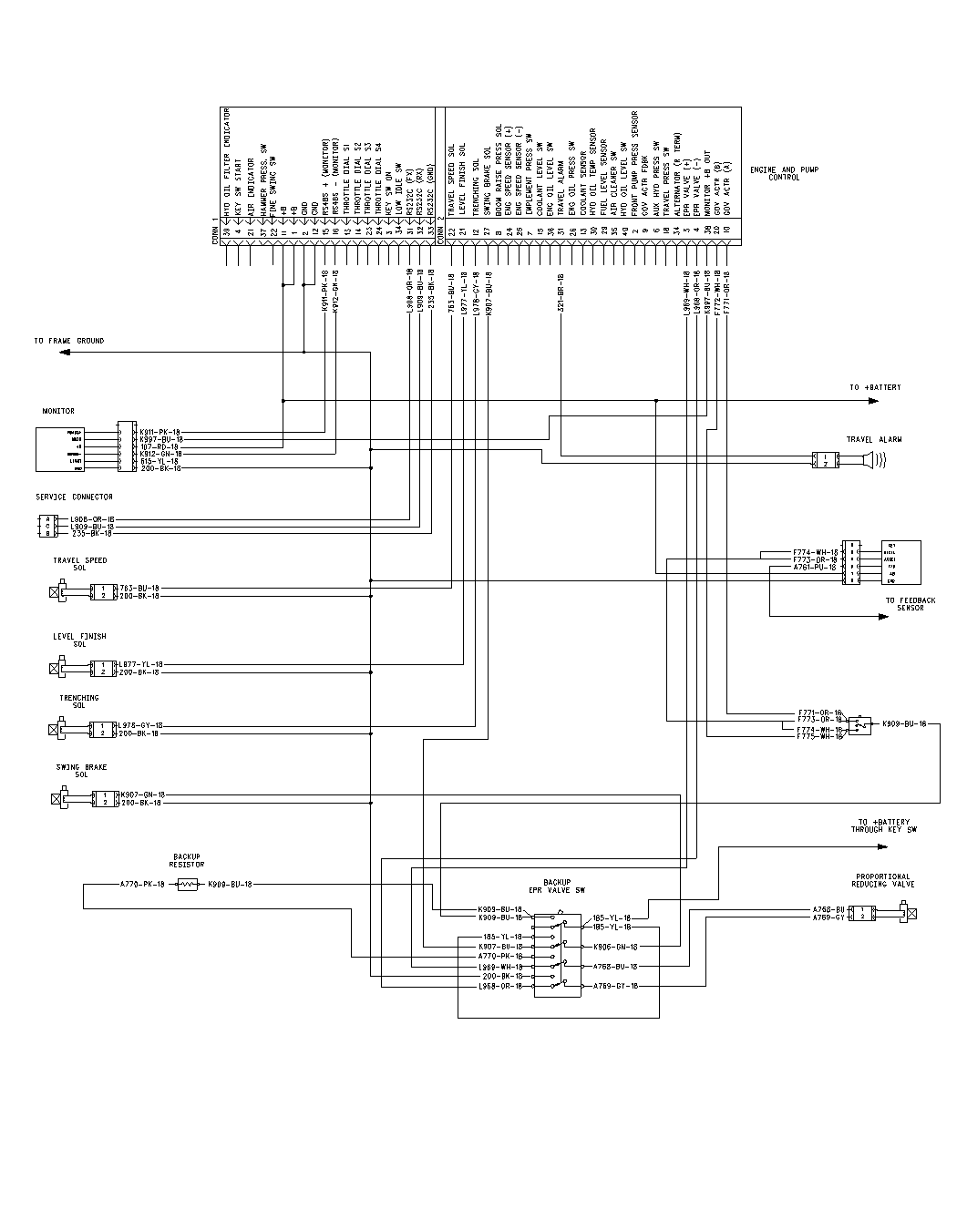 hey i have a problem a cat b l excavator processor basic schematic 2