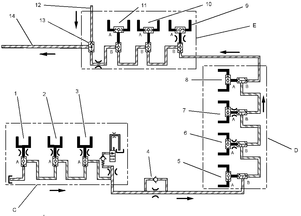 backhoe controls diagram  what is the location of a boom