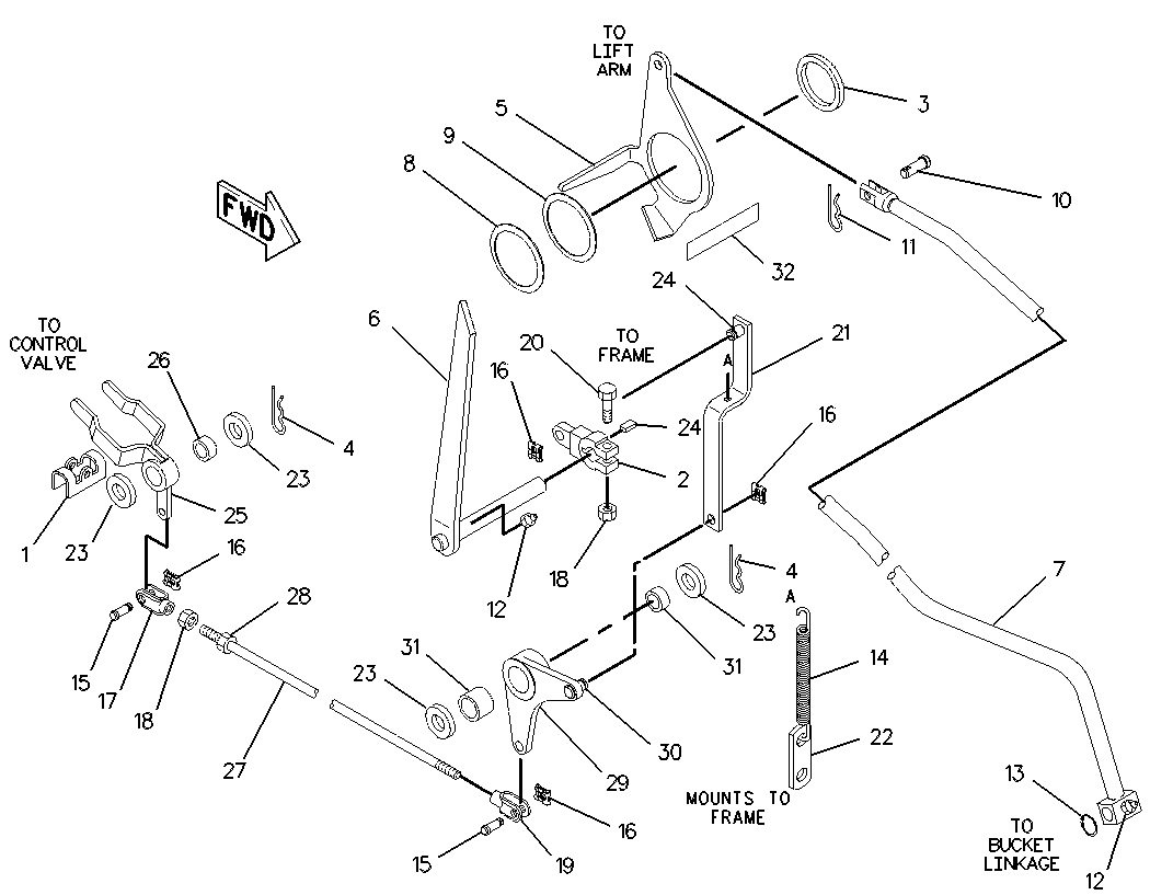 Caterpillar Backhoe Parts Diagram : I have a cat c backhoe the bucket is in full
