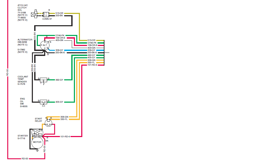 i am working on a excavator i need a wiring diagram mainly here is a diagram of the engine wiring