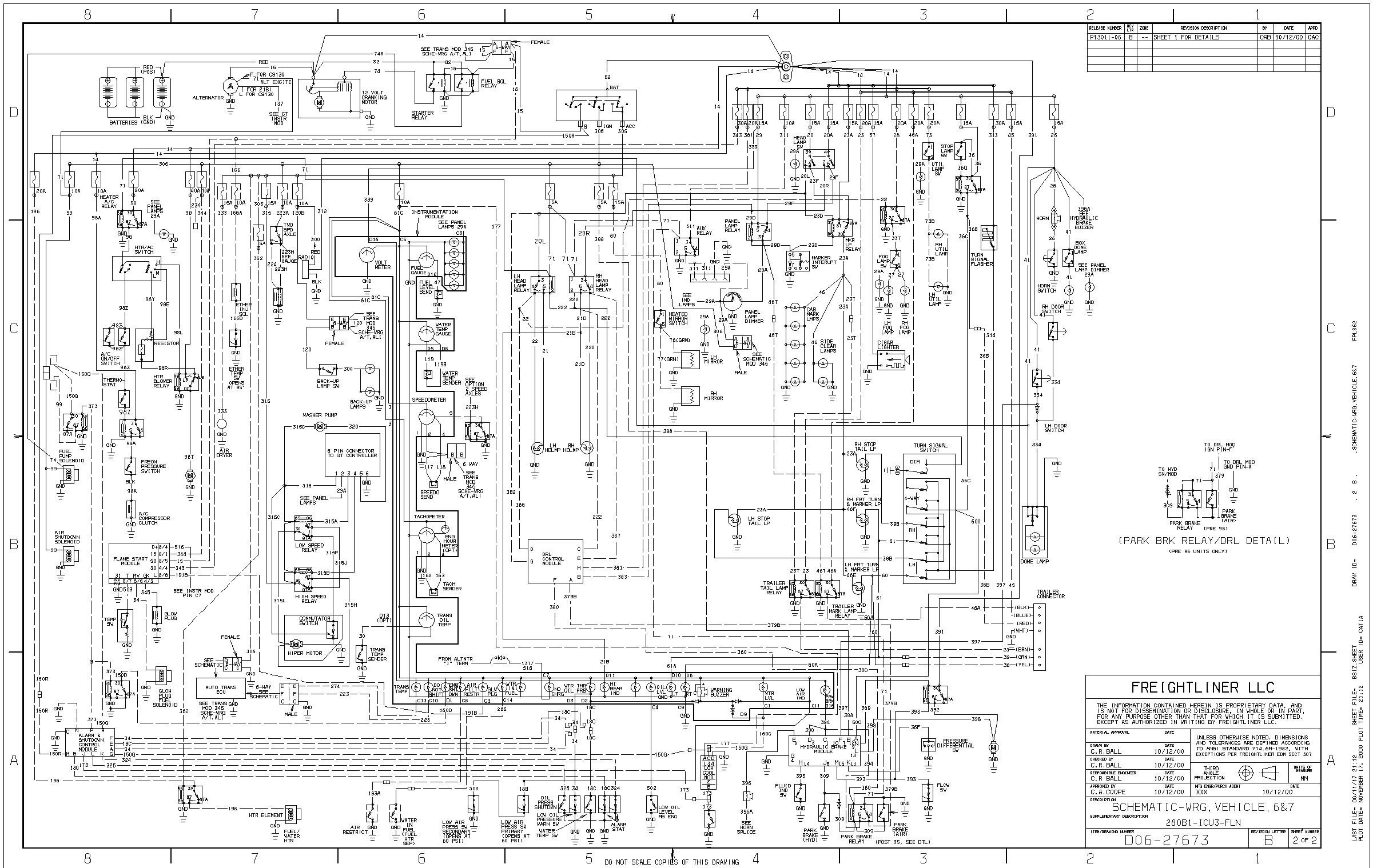 Wiring Diagram For 1998 Freightliner Fld Get Free Image About Wiring Diagram