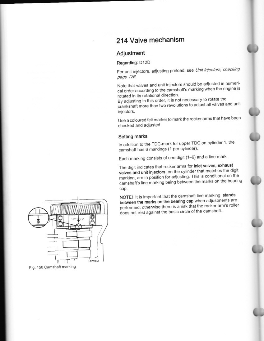 how to check and adjust valves and injectors on volvo ved graphic graphic