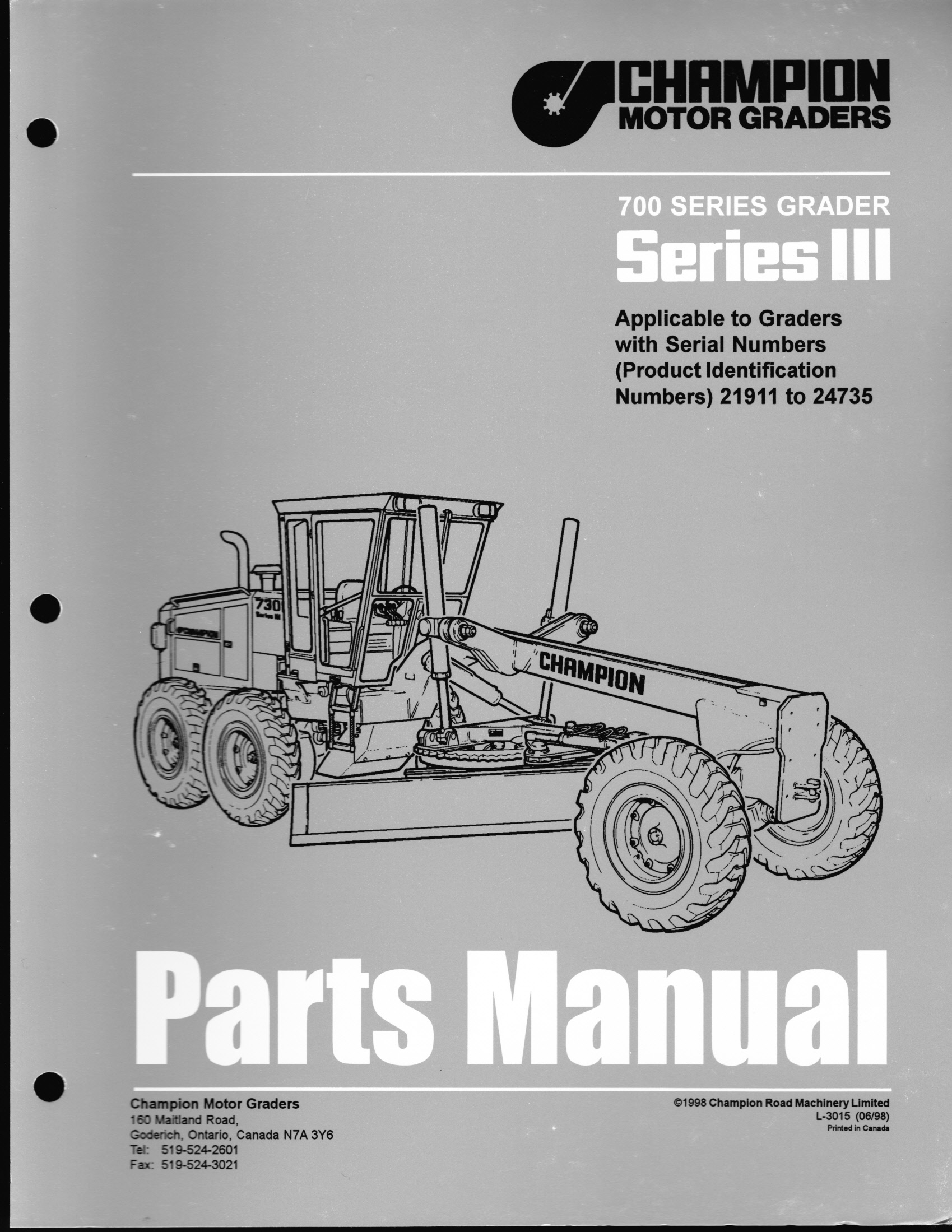 Champion Motor Grader Parts Book Panel Fuse Box And Wiring Harness Caterpillar 12f O So This Is The Pages You Requested Looking At Serial Number Break It Slightly Higher