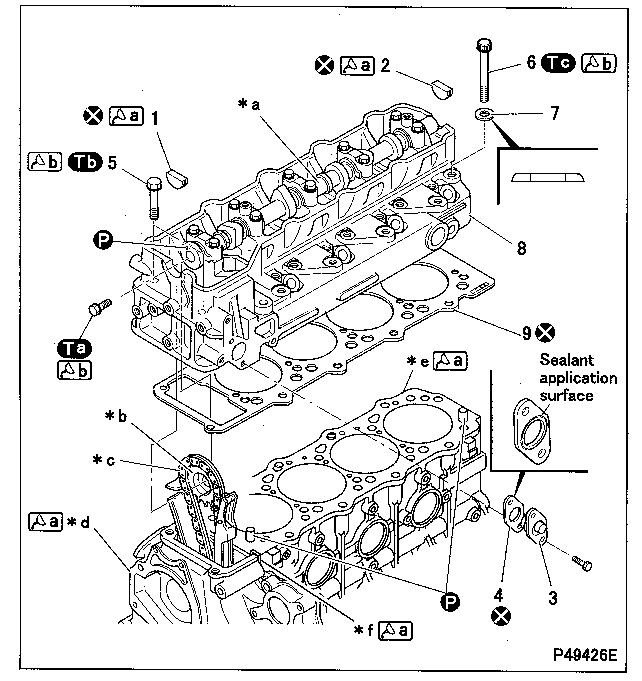 procedure to remove cylinder head from a 4m40 engine timing marks for 4m40 ford 23 timing marks diagram