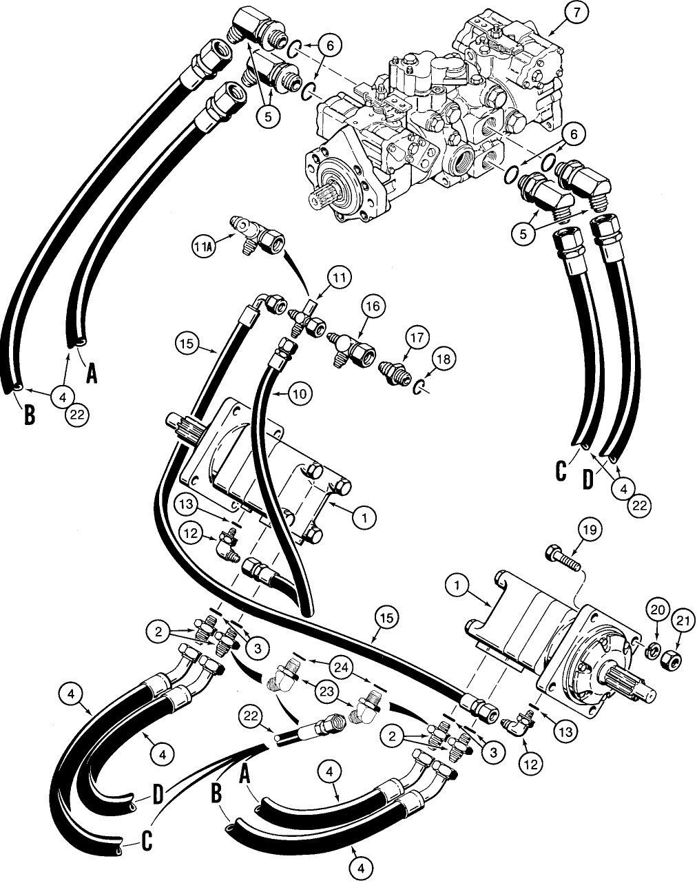 65d5o Case Skidsteer 1835c Changed Presure Line Develop