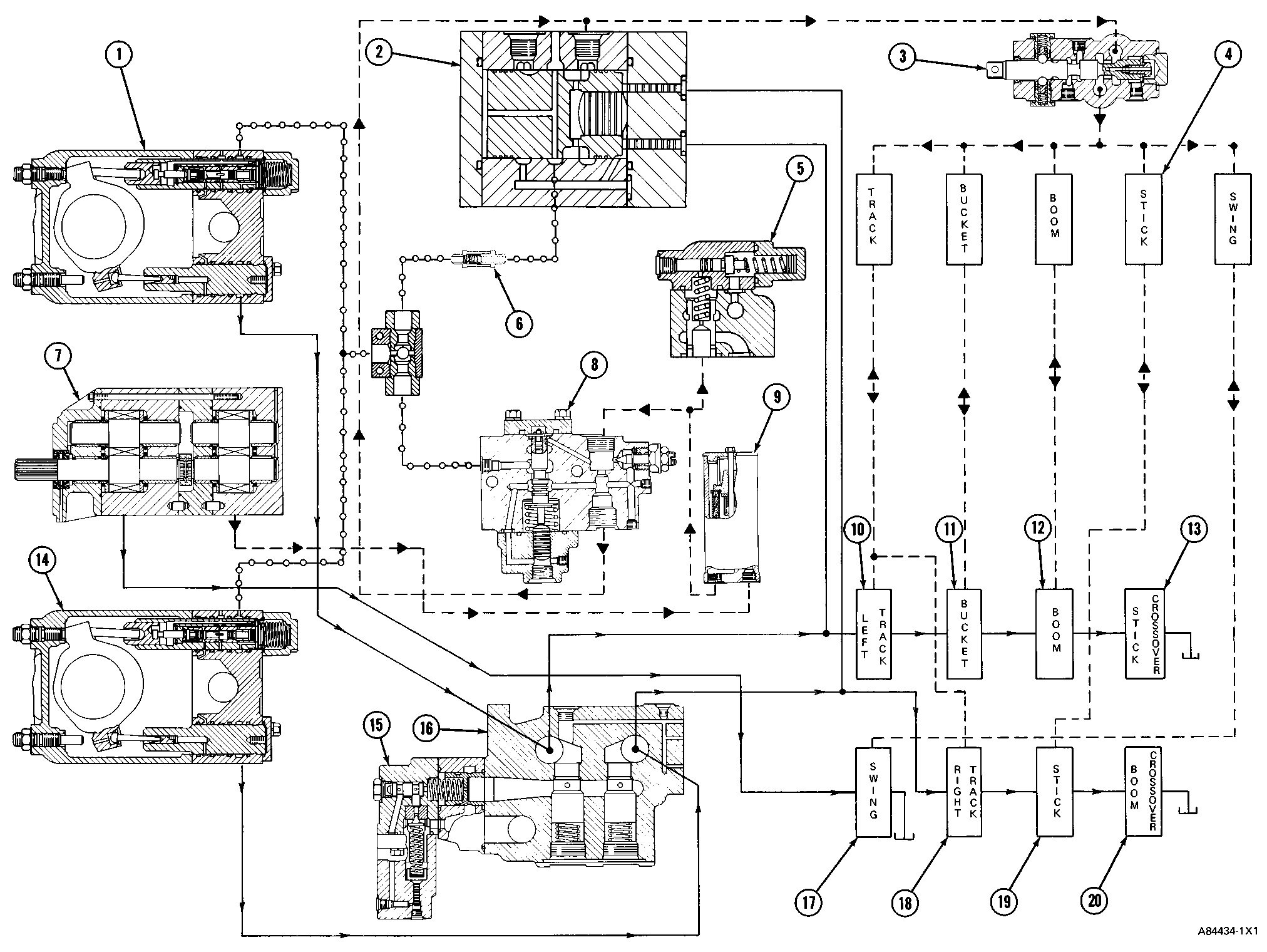 electrical schematic for cat 416 backhoe  diagram  auto