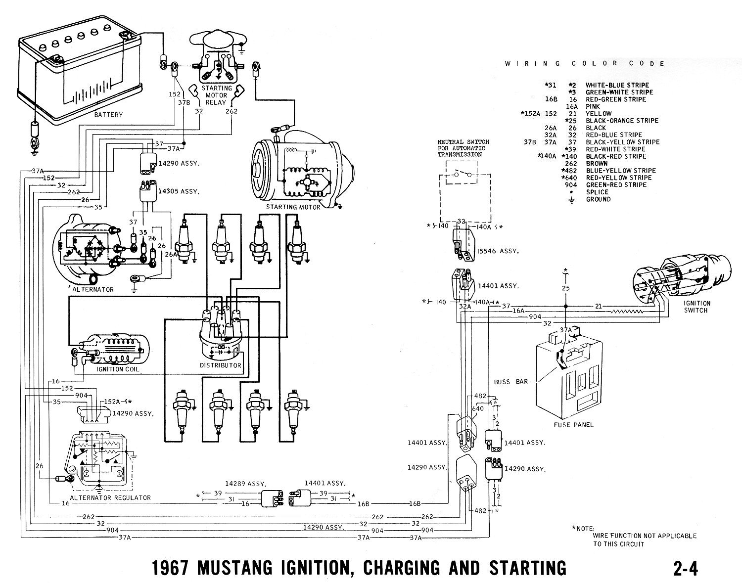 76b80 67 Ford Mustang No Power Red Green Wire Solenoid on international truck fuse panel diagram