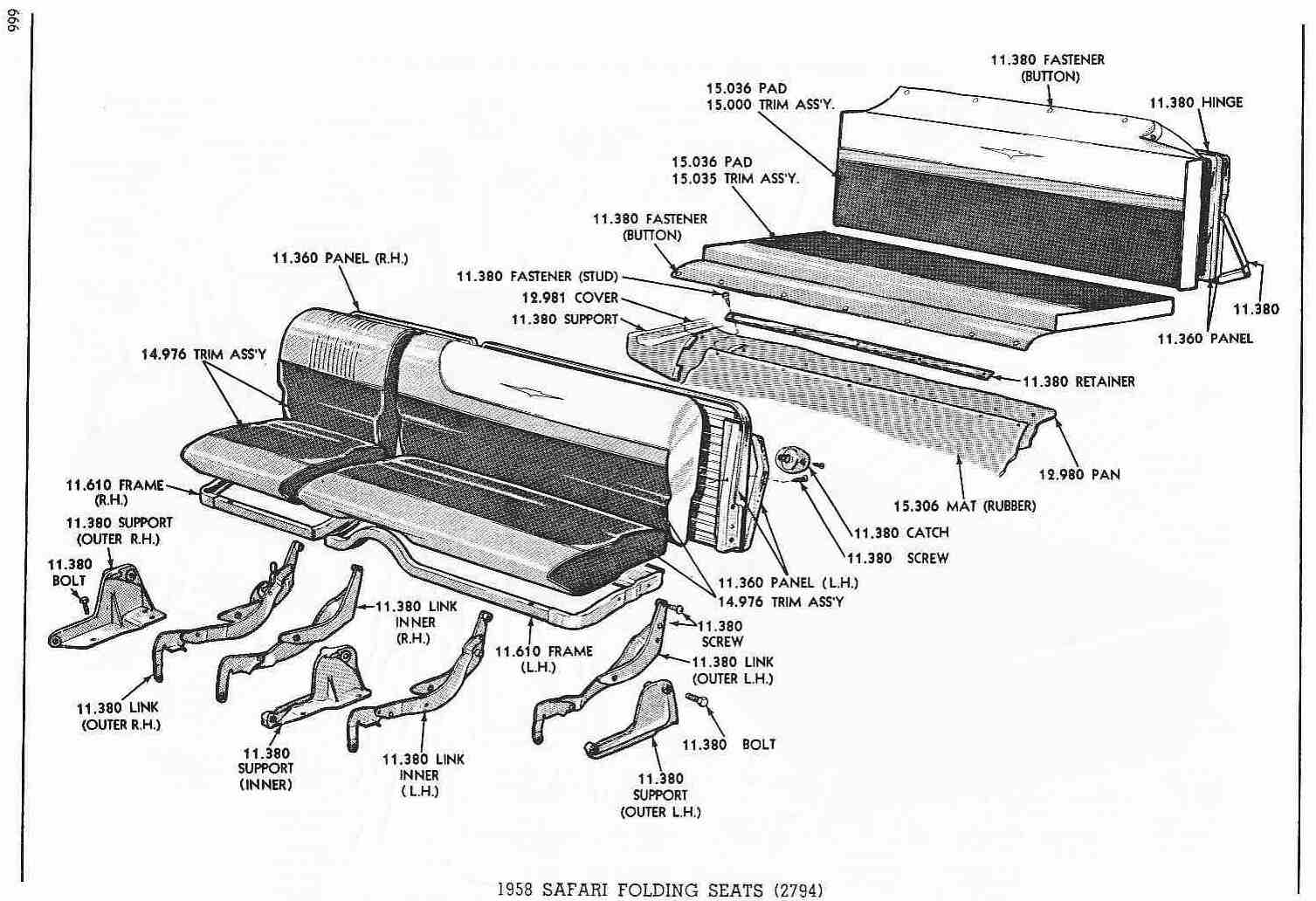 need diagram for the folding rear seat  i think i have all