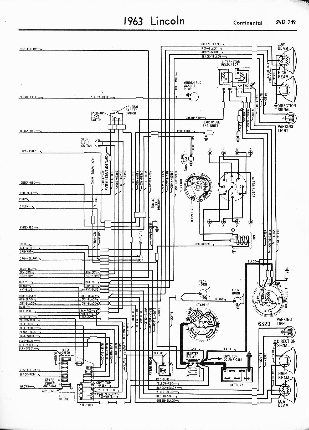 1964 lincoln continental convertible wiring diagram