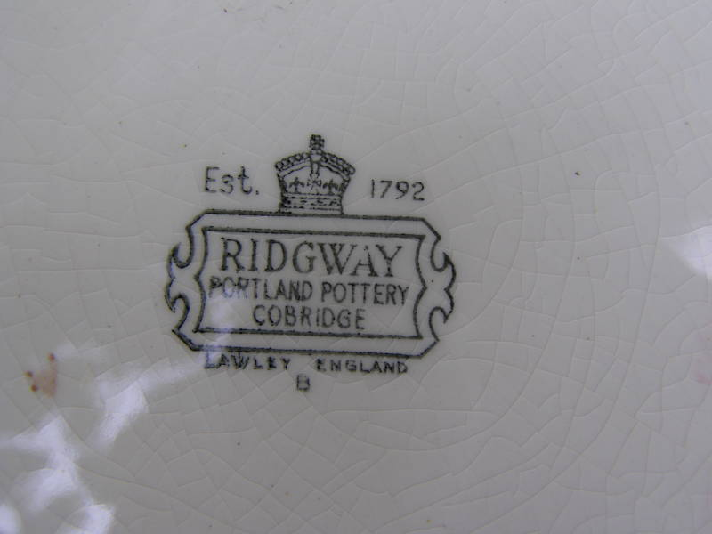 Could you tell me if my RIDGWAY Dinner service is