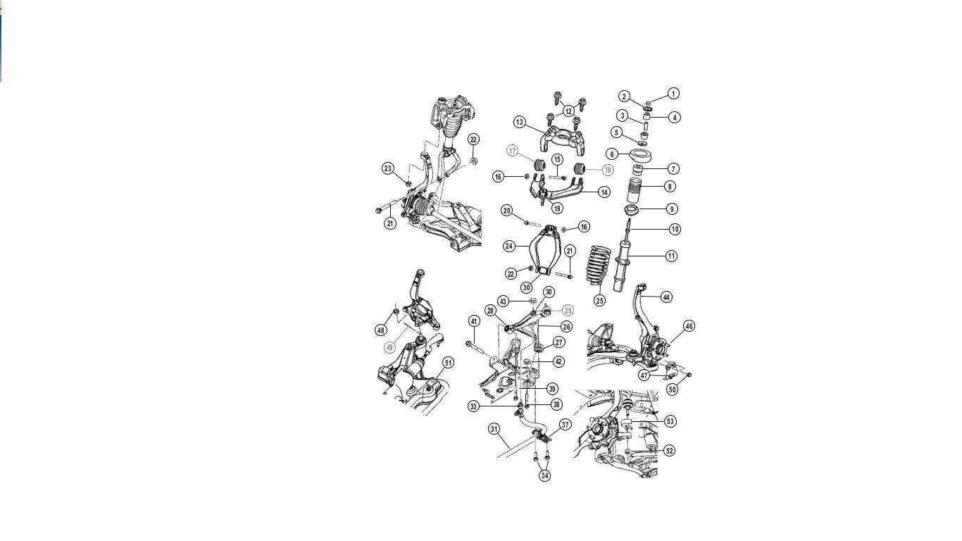 2006 chrysler sebring front suspension parts diagram