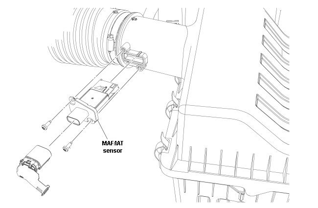 the location of the iat   maf senor on 2011 f-150
