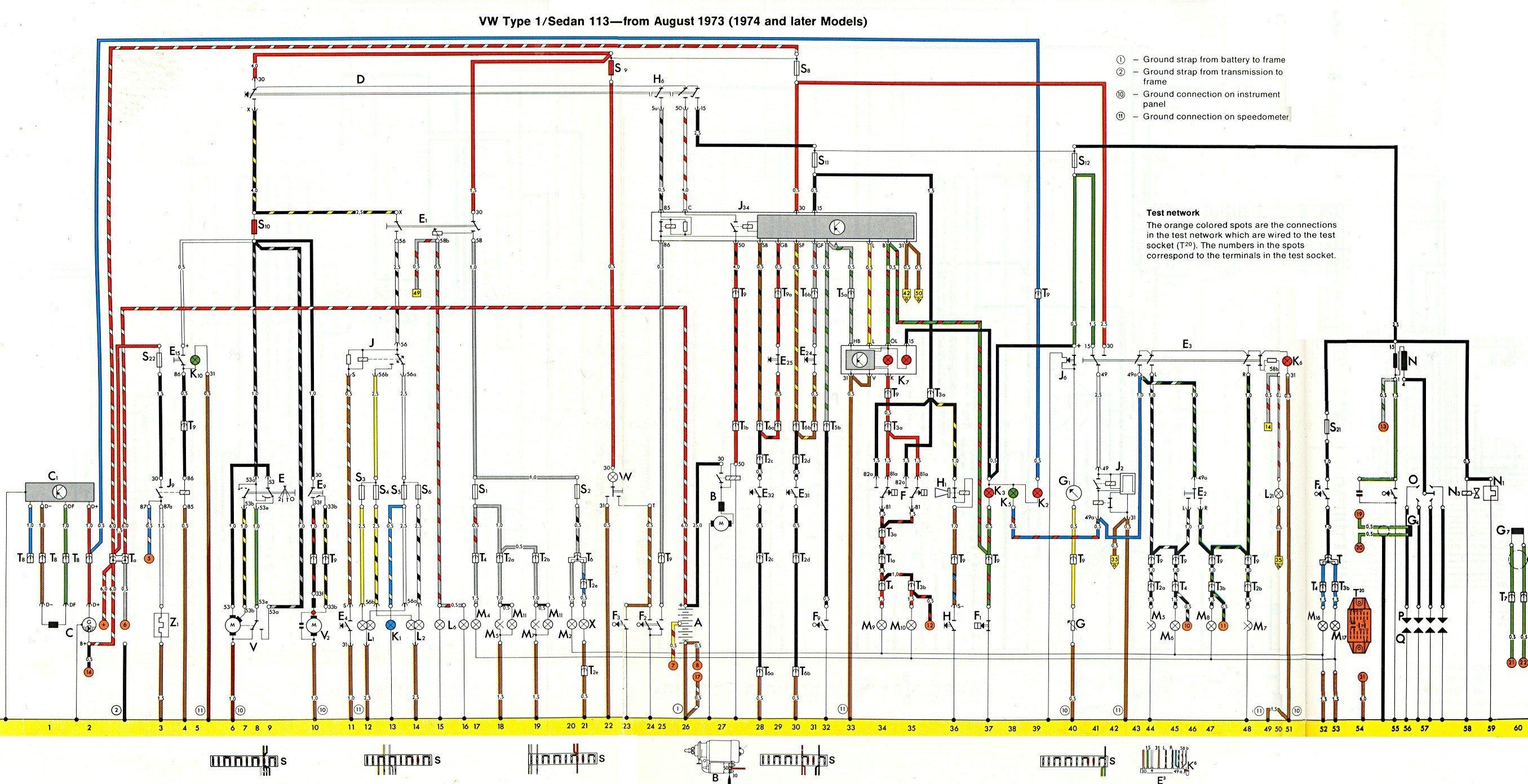 Need Wiringing Diagram 1974 Super Beetle  Coil  Dist  Oil