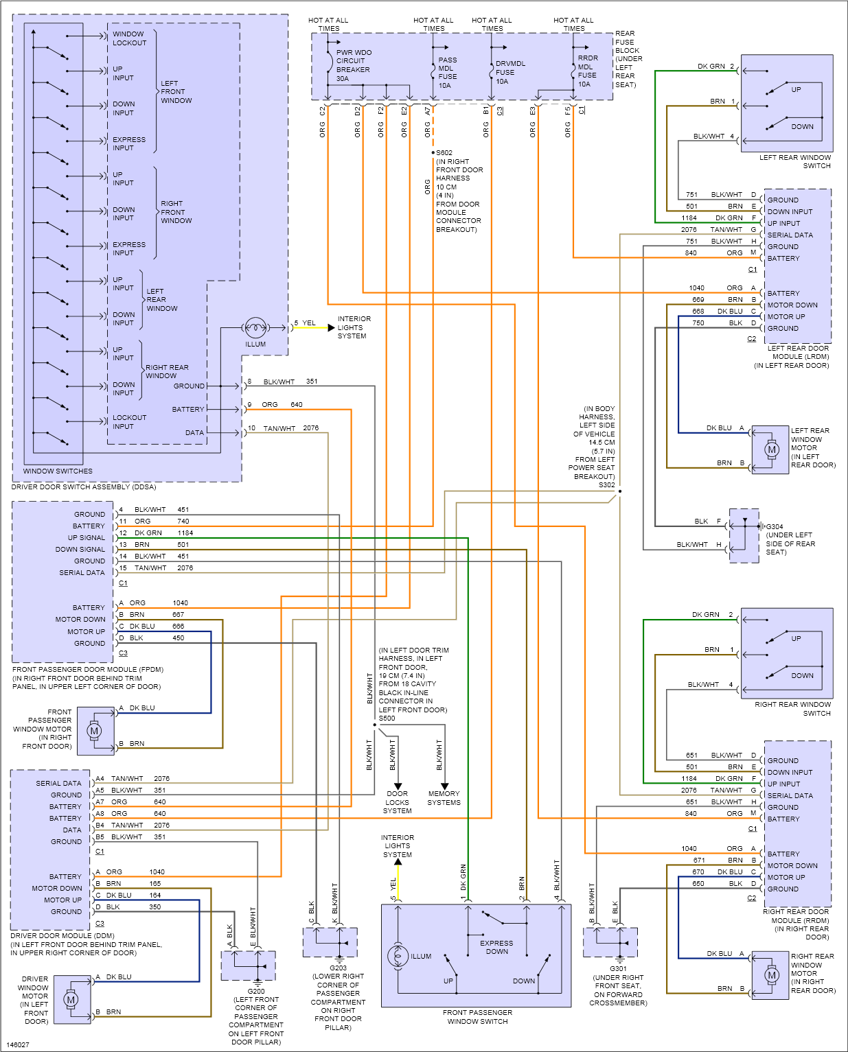 wiring diagram 2001 buick lesabre i have a 2001 buick lesabre. the windows, door locks, etc ... #1